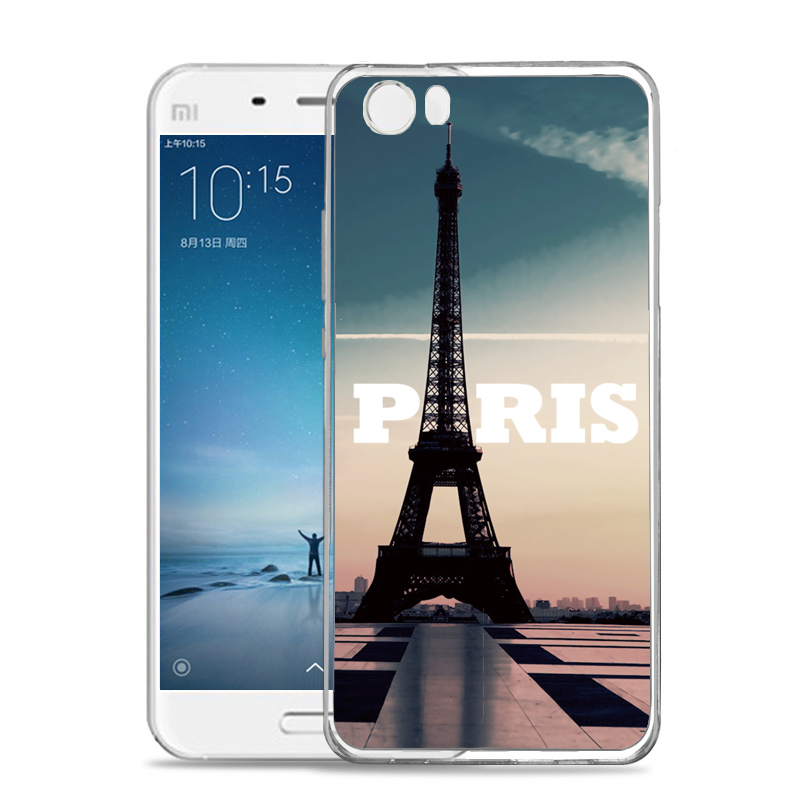 Newest fashion 3D Eiffel Tower TPU phone case for xiaomi mi4 cover casefor xiaomi 4s