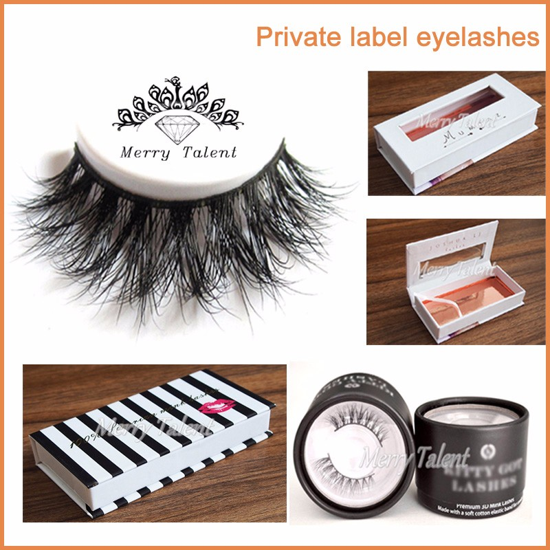 China Factory Private Label Wholesale Premium Custom Mink Eyelashes Packaging Boxes
