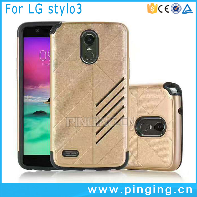 2 in 1 PC TPU Dual Layer Rugged Armor Case For LG Stylo 3 / Stylus 3 / K10 Pro