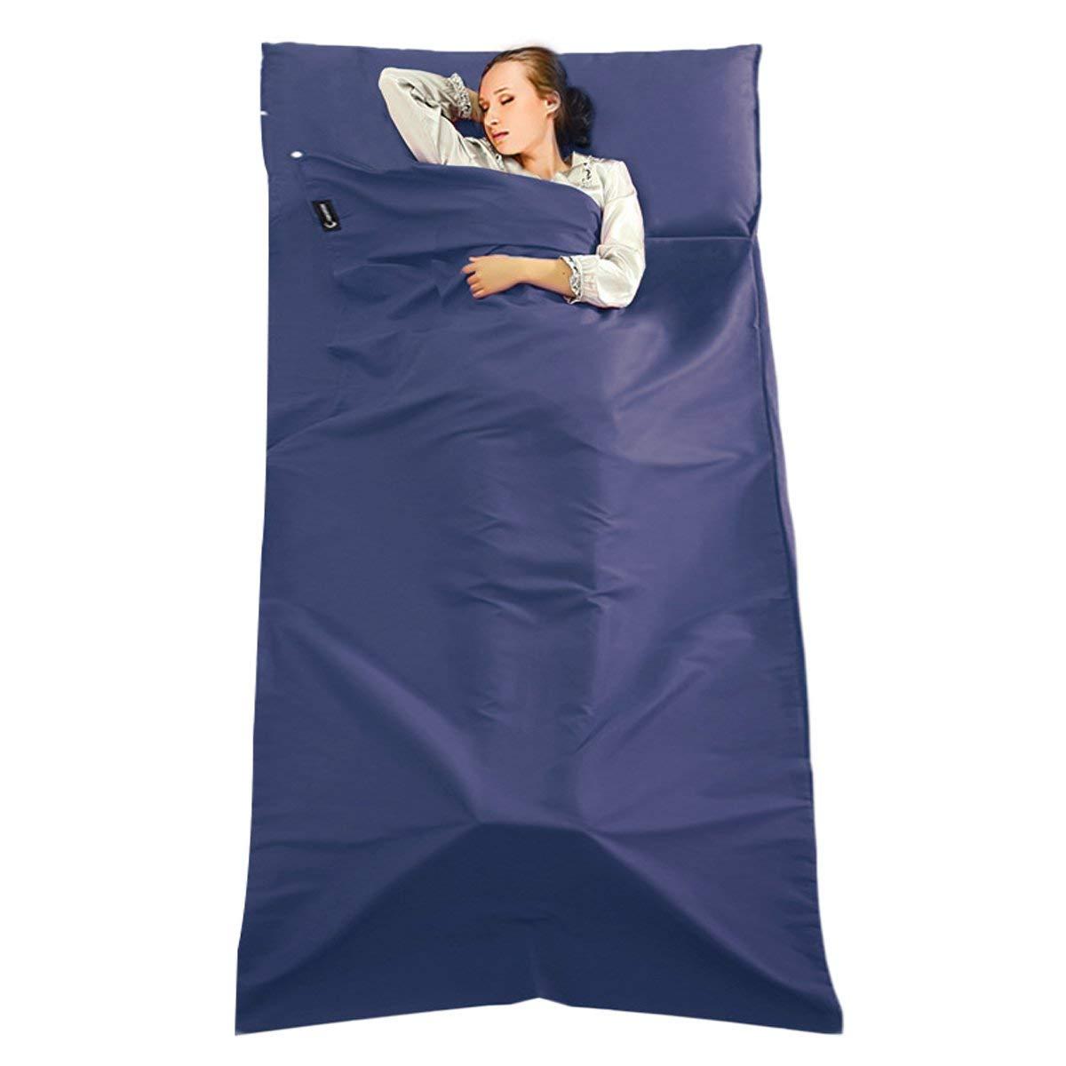 TRIWONDER Sleeping Bag Liner Camping Sheet Travel Sheet Cotton Lightweight Sleeping Sack for Camping Hotels /& Backpacking Traveling