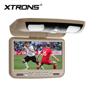 XTRONS CR9033Cream 9 inch monitor TFT Digital screen car roof dvd player built in IR/FM/GAMES/AV IN/OUT dvd auto