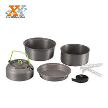 Aluminum 6-person Outdoor Cook Set Cooking Pots Camp pot