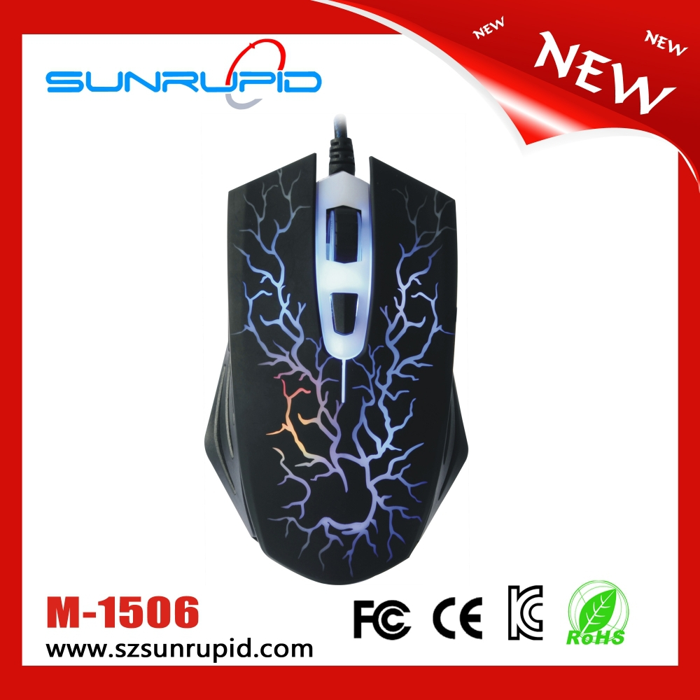 1600DPI Both hands orientation and wired type led light gaming mouse