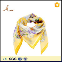 HJ brand aztec custom design silk twilly scarf