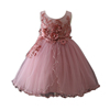New Design smocked flower baby girls wedding prom princess puffy dresses party for 2-12 years old girls