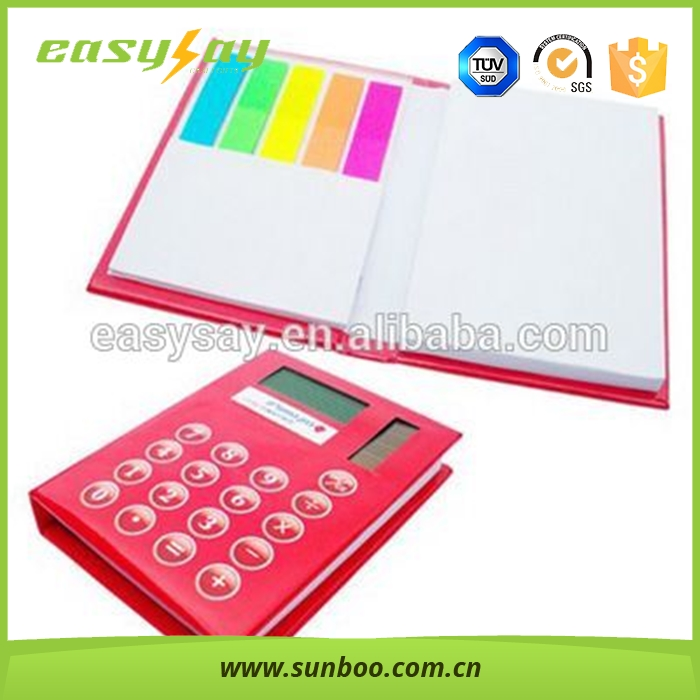 Pu Notebook with caculater notebook and sticky note/multifuction notebook