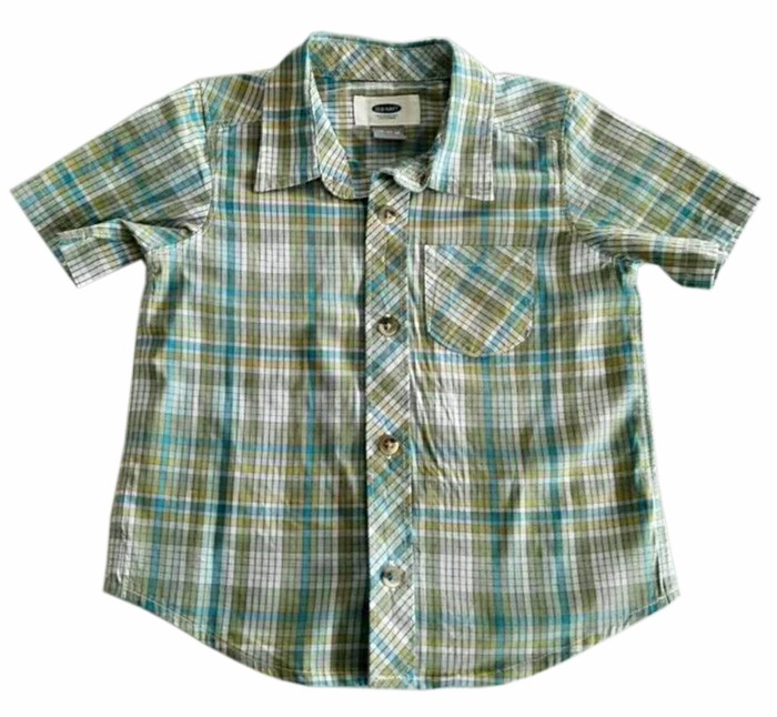 2017 New Model Cotton Plaid Button-Front Kids Boys Casual Shirts