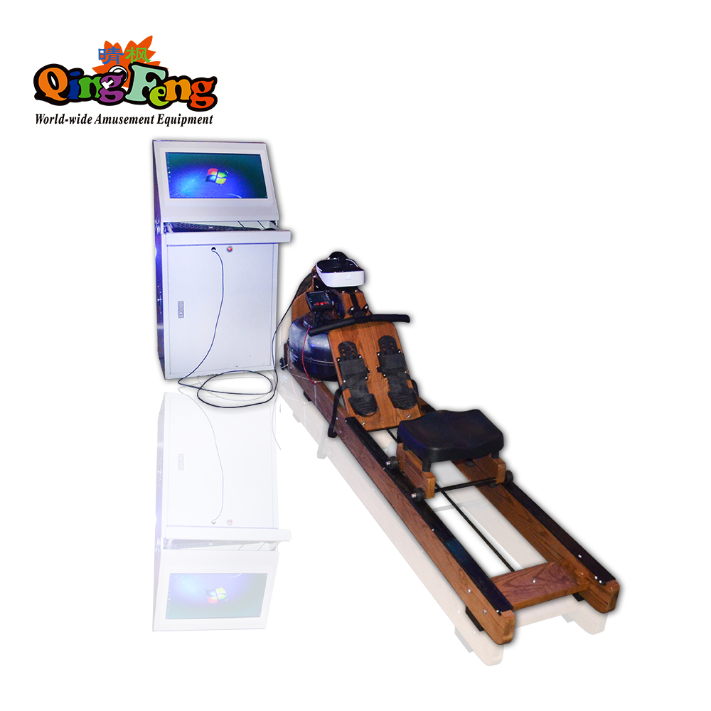 Qingfeng carton fair newest simulator vr amusement vr fitness game machine sale with VR glasses