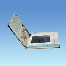 7inch screen LCD advertising video card video brochure video book with 2G memory