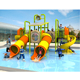 Most poplar fun large plastic outdoor children's water park slides kids game for sale