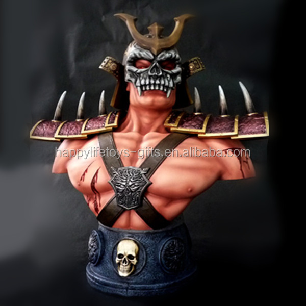 Life Size Resin Statue Mortal Kombat Custom Human Bust Made In China
