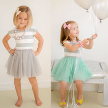 Age 2 7 Kids Girls Summer font b Dress b font Princess Striped Tutu font b