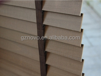faux wood venetian blind for home's and other buildings' motorized venetian blinds produce by NOVO
