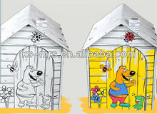 Teddy bear doll playhouse for kids toy diy assembly house