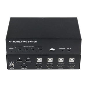 4 Port KVM Switch HDMI Control 4 Source Devices with One Set of USB Devices Mouse Keyboard