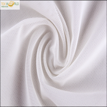 Soft recycled 88 polyester 12 spandex breathable mesh fabric