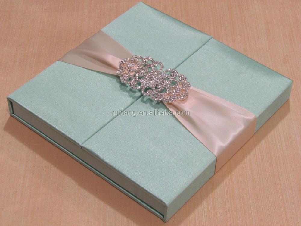 Por Elegant Royal Gatefold Silk Wedding Invitation Box Whole