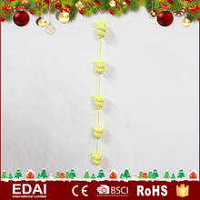 Hot sale gift hanging green polyfoam stuffed 6 yellow eggs string easter products