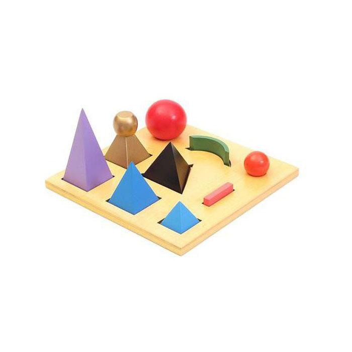 Montessori Wood Geometric Shape Separation Board Language ...