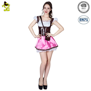 New Ladies Beer Girl Cafe Oktoberfest Costume Adult Party Cosplay Costume Sexy