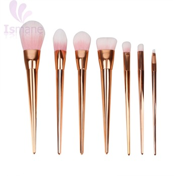 Hot Sell Gold Synthetic Hair Make Up Brushes 7 Pcs Makeup Brushes Set