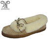 Ladies new design sheepskin slippers women with shoe laces
