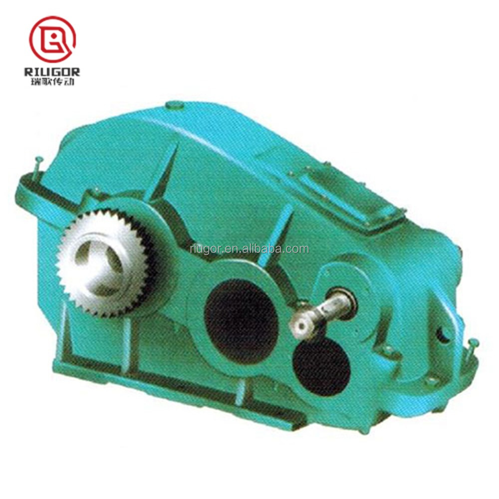 large drive ratio cylindrical geared motor ZQ series