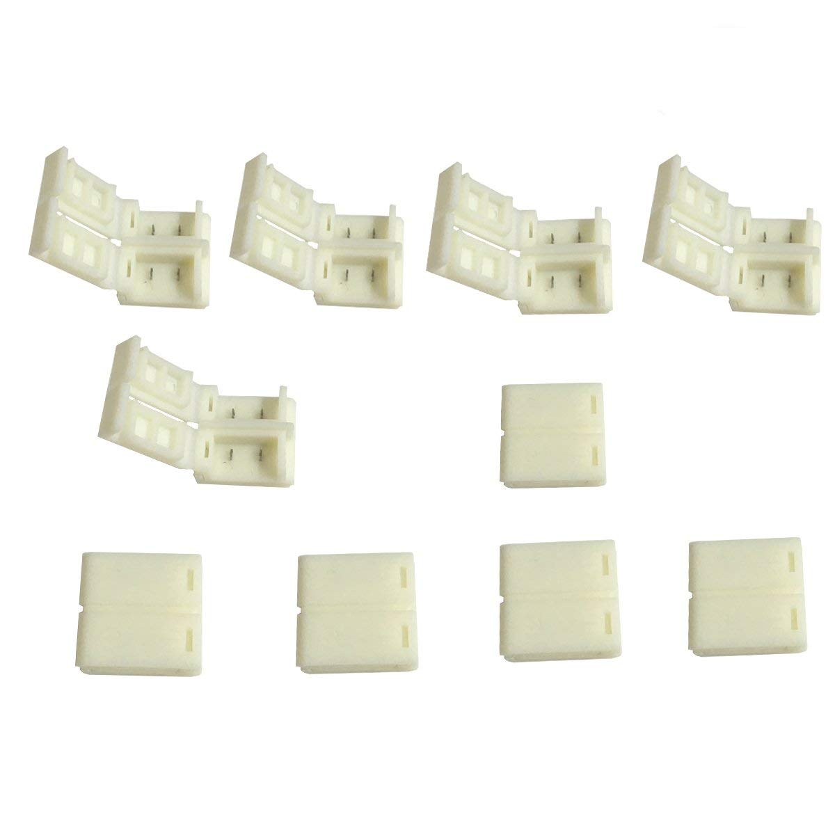 10 Pcs Connectors Applicable for 10mm Wide Waterproof LED Strip Light 5050, No Soldering LED Connector for Waterproof Gapless Strip to Strip LED rgb Waterproof Clasp LED Light Strip Gapless Connector