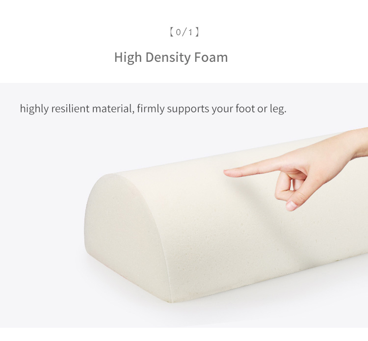 Organic Memory Foam Knee Support Pillow Under Desk Half Cylinder Leg Cushion Office Chair Table Adjustable Foot Rest Pillow