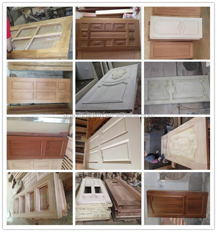 Walnut Color Front Door Design Wooden Double Door Design With ... on