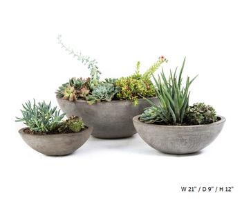 Garden Deco Oval Pot Lightweight Cement And Natural Fiber Concrete Modern  Outdoor Planters Pots