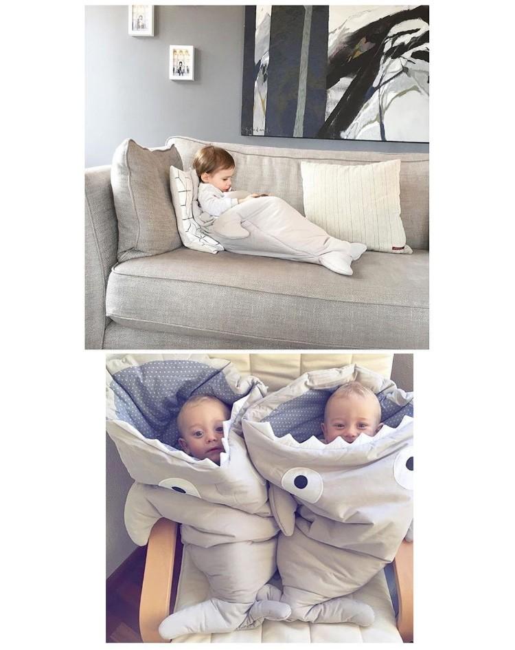 Hot Sale Stroller Footmuff Shark Shape Baby Sleeping Bag Toddler Footmuff