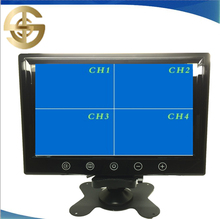 Headrest monitor 9 inch widescreen 4 split quad monitor with VGA