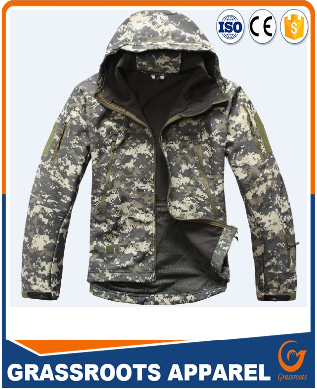 Wholesale Fashion Softshell Army Camouflage Jacket Sport Waterproof Mens Military Jacket