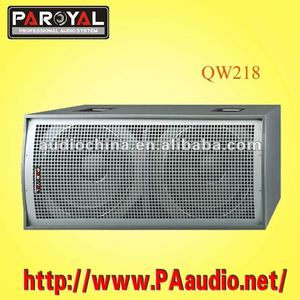 QW218 big power subwoofer pro sound speaker factory china