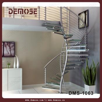 Decoración Interior Prefabricada Escaleras De Vidrio Para Casas Pequeñas