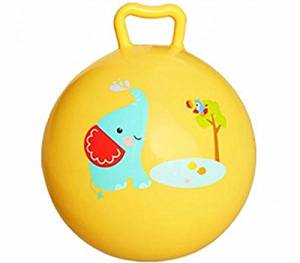 Inflatable Bouncing Ball Sport Toy Colorful Cartoon Animal Educational Toy Ball for Baby Ball Toy (Yellow)