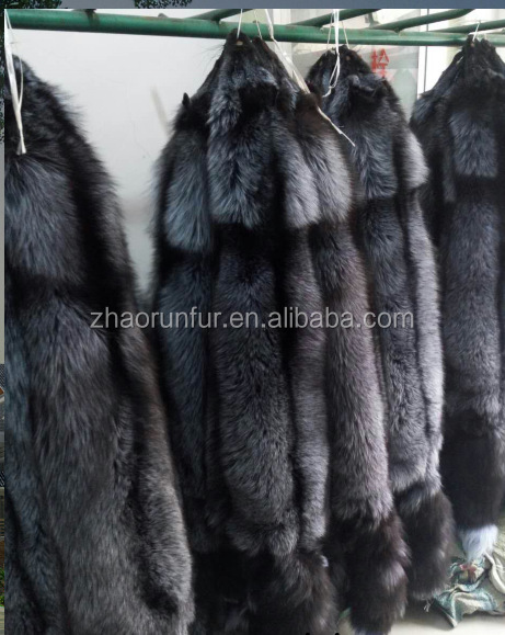 Wholesale Tanned Silver Fox Fur Skin Fox Fur Pelt For Garment