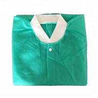 ISO CE FDA Protective SMS Non Woven Cheap Disposable Lab Coats Wholesale With Knitted Cuffs/Neck