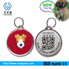 Wholesale Round Shape Personalized Fancy Silicone dog/cat Pet tag