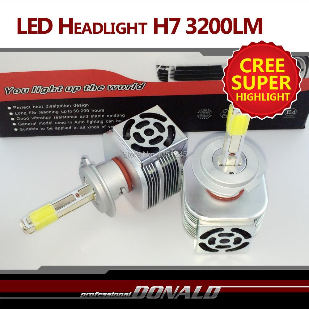 H7 36W 3200LM CREE LED Conversion Kit DRL Lamp Fog