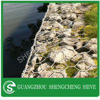 Good quality galvanized Gabion Box flood bank or guiding bank gabion mesh wire