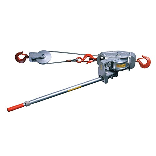 6000-15Sh Lug-All 3 Ton Cable Winch-Hoistw/Latch Hook Medium/Larg