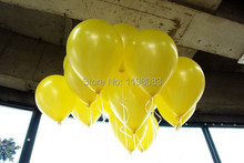 hot sale 10inch 100pc yellow color Latex Helium Inflable Ballon Wedding Party supplies And Birthday Decoration Pearl Balloon