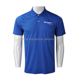 Custom Mens Polo T shirt Blue Color