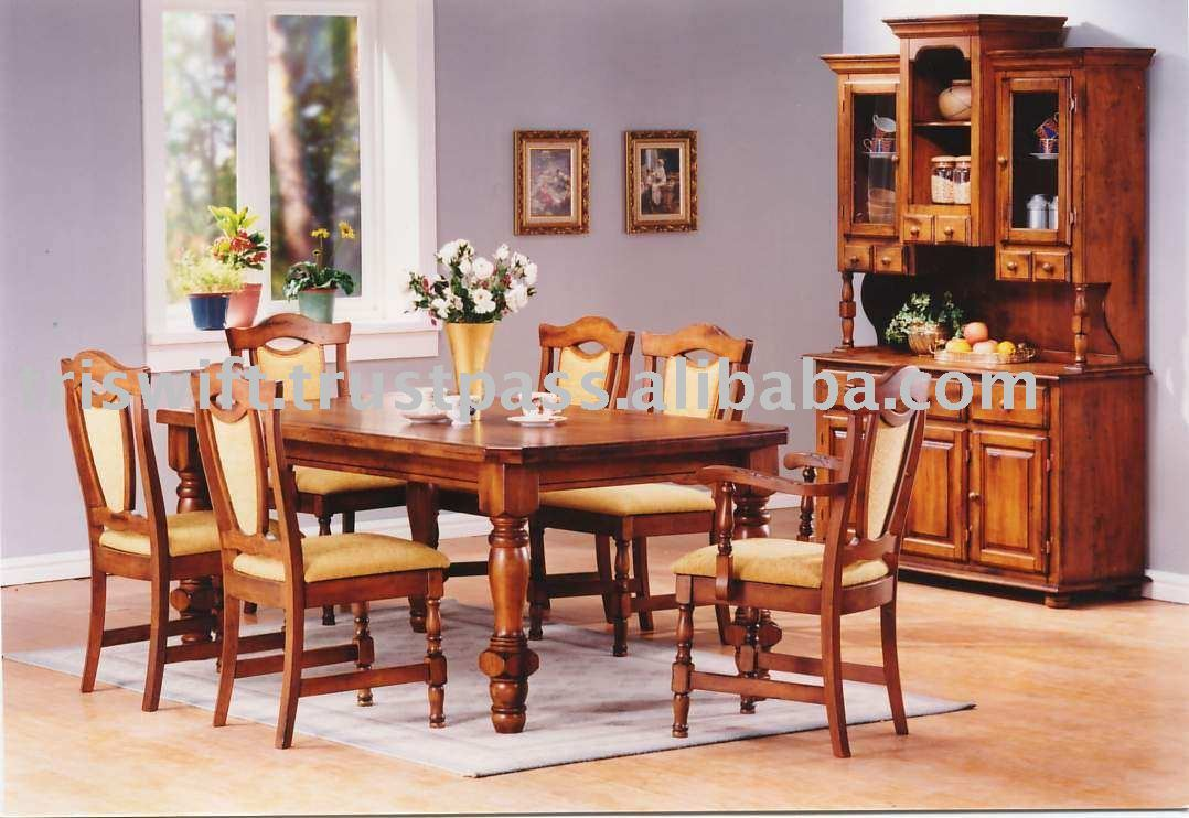 Classical Dining Table And Chair,Wooden Dining Chair,Wooden Dining  Table,Dining Table Set,Dining Room Chair,Muar Furniture - Buy Antique ...