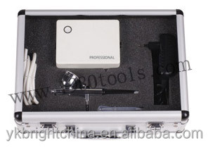 draagbare make-up airbrush mini luchtcompressor 220v met spuitpistool kit 5 versnellingen airbrush tatoeages 24 uur