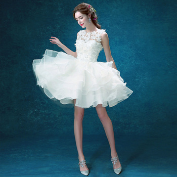Princess Short Wedding Dress