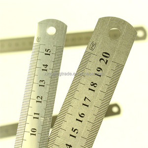 Stainless Steel Metal Ruler Metric Ruler Precision Double Sided Ruler Measuring Stationery