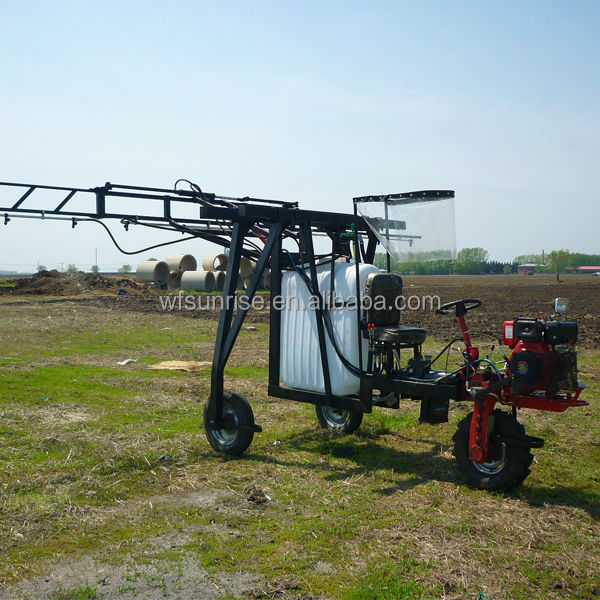 13HP 400L self propelled powered agricultural pesticide boom sprayer